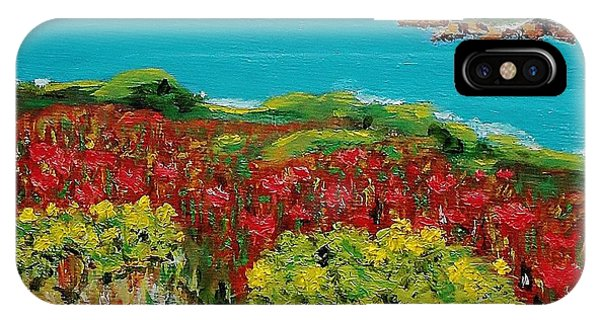 Sonoma Coast With Wildflowers IPhone Case