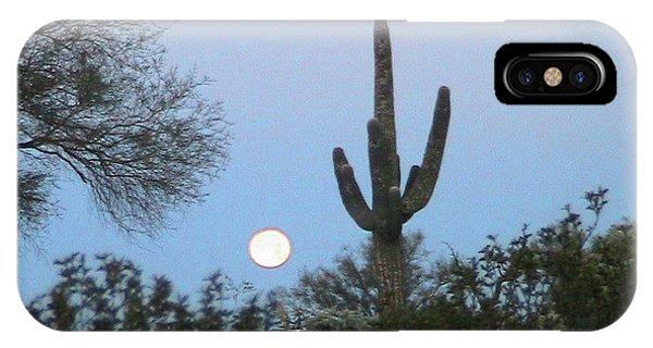 Sonoran Desert Moonset IPhone Case