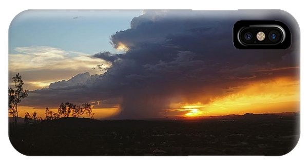 IPhone Case featuring the photograph Sonoran Desert Thunderstorm by Broderick Delaney
