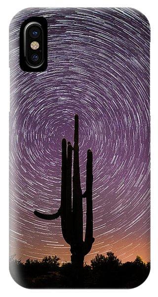 Sonoran Star Trails IPhone Case
