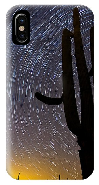 Sonoran Startrails - Reaching For The Stars IPhone Case