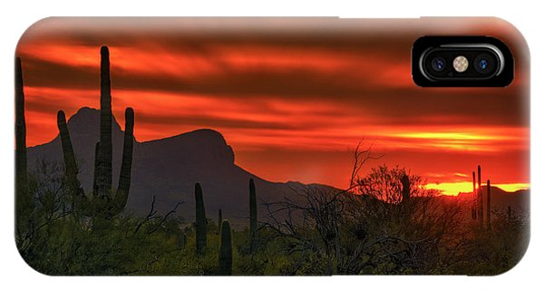 IPhone Case featuring the photograph Sonoran Sunset H38 by Mark Myhaver