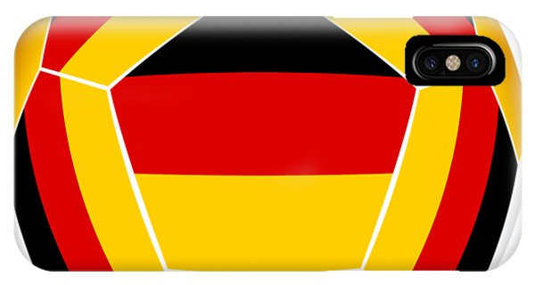 iPhone Case - Soocer Ball With Germany Flag by Michal Boubin
