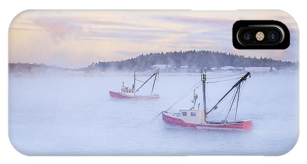 Fishing Boat iPhone Case - Soon As The Morning Comes by Evelina Kremsdorf