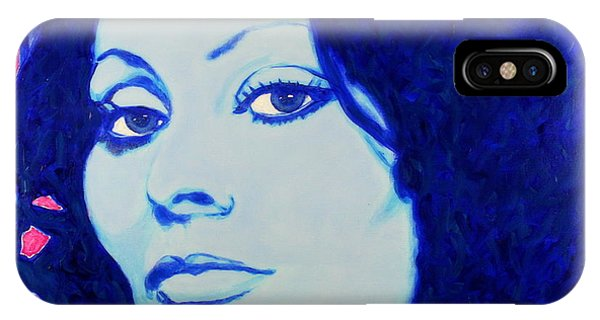 IPhone Case featuring the painting Sophia Loren Pop Art Portrait by Bob Baker