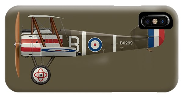 Sopwith Camel - B6299 - Side Profile View IPhone Case