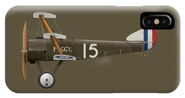 Sopwith Triplane - ' Peggy ' - Side Profile View IPhone Case