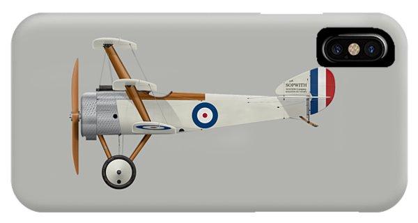 Sopwith Triplane Prototype - Side Profile View IPhone Case