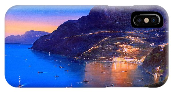 IPhone Case featuring the painting La Dolce Vita A Sorrento by Rosario Piazza