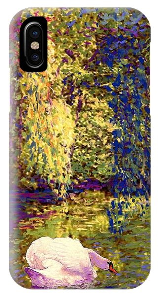 Impressionism iPhone X Case - Swans, Soul Mates by Jane Small