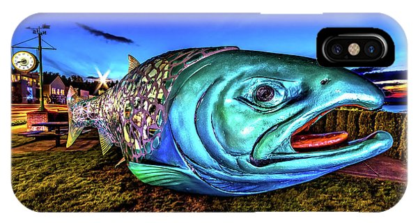 Soul Salmon During Blue Hour IPhone Case