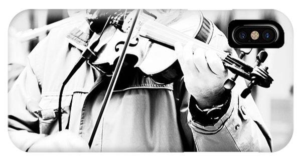 Violin iPhone X Case - Sounds Of A Stranger by Gabriela Insuratelu