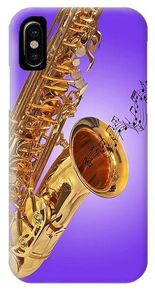 Sounds Of The Sax In Purple IPhone Case