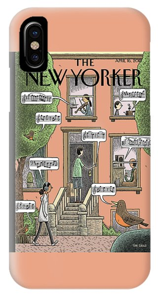 Cities iPhone Case - Soundtrack To Spring by Tom Gauld