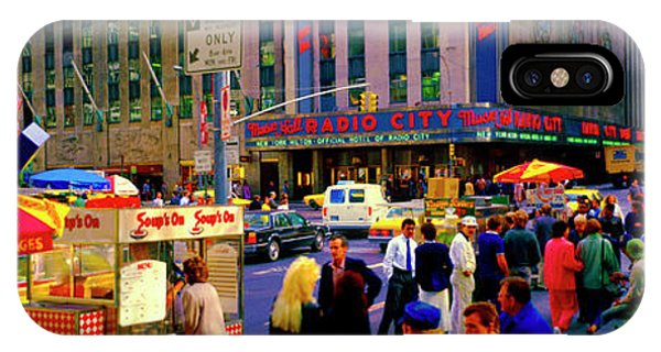 IPhone Case featuring the photograph Soups On Radio City Music Hall  by Tom Jelen