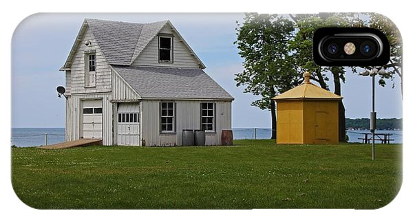 South Bass Island Lighthouse Barn And Oil Storage Building I IPhone Case