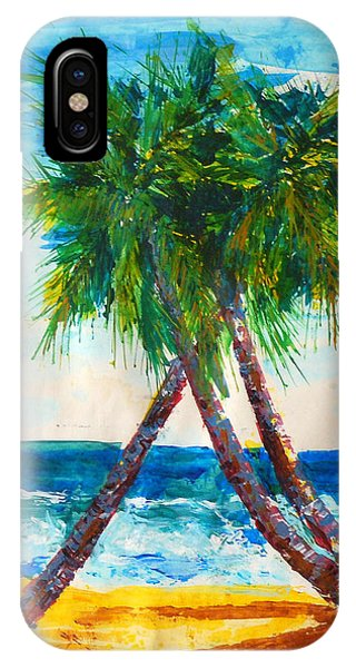 South Beach Palms IPhone Case