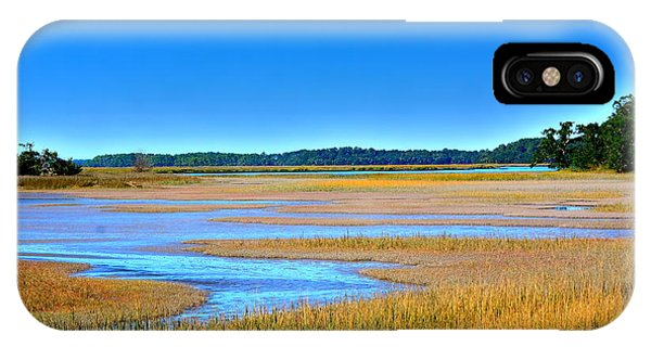 IPhone Case featuring the photograph South Carolina Lowcountry H D R by Lisa Wooten