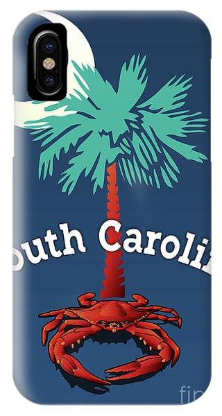 South Carolina Palmetto Crab IPhone Case
