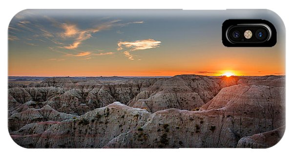 North Dakota Badlands iPhone Case - South Dakota Sunset - Evening In The Badlands Of South Dakota by Southern Plains Photography