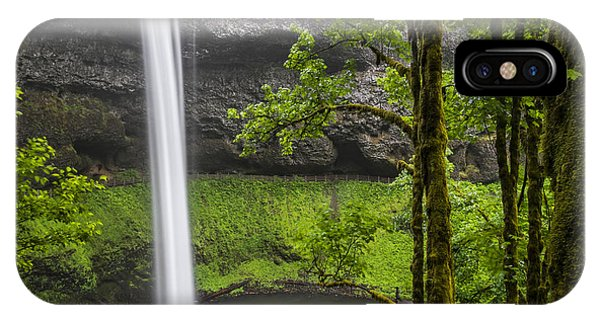 IPhone Case featuring the photograph South Falls In Silver Falls State Park by Bryan Mullennix