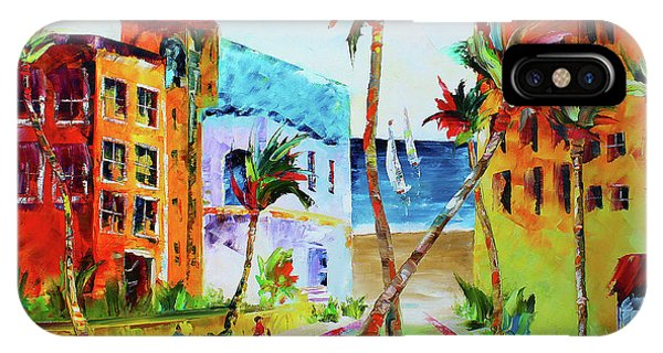 IPhone Case featuring the painting South Florida by Kevin Brown