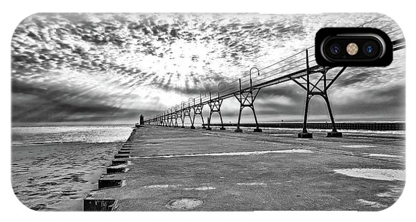 South Haven Pier Wide Angle IPhone Case