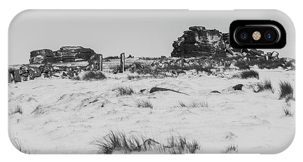 South Hessary Tor In The Snow IPhone Case