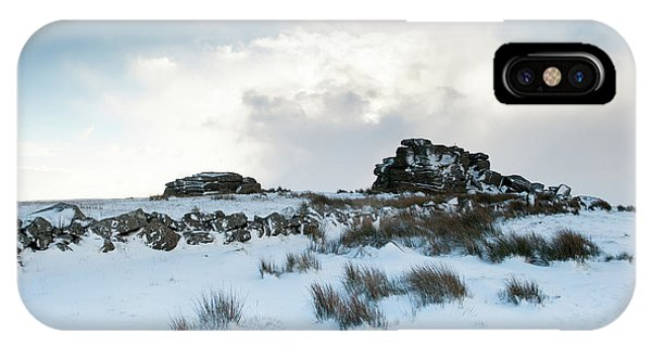 South Hessary Tor In The Snow II IPhone Case