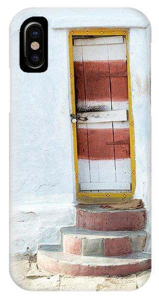 Indian Village iPhone Case - South Indian Village Door by Tim Gainey