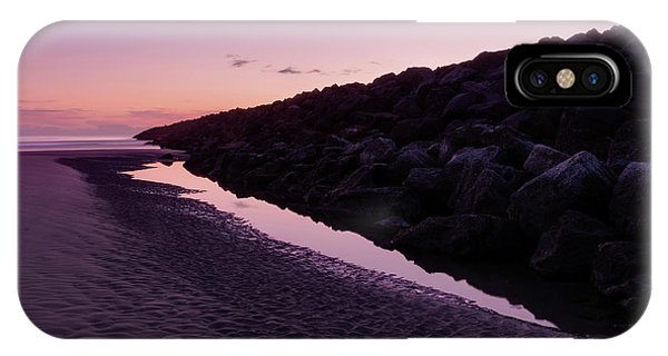 South Pacific Ocean iPhone Case - South Jetty And The Moon by Masako Metz