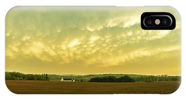 Thunder Storm Over A Pennsylvania Farm IPhone Case
