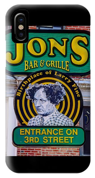South Philly Skyline - Birthplace Of Larry Fine Near Jon's Bar And Grille-a - Third And South Street IPhone Case