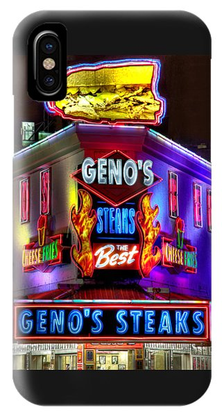 South Philly Skyline - Geno's Steaks-1 - Ninth And Passyunk In South Philadelphia IPhone Case
