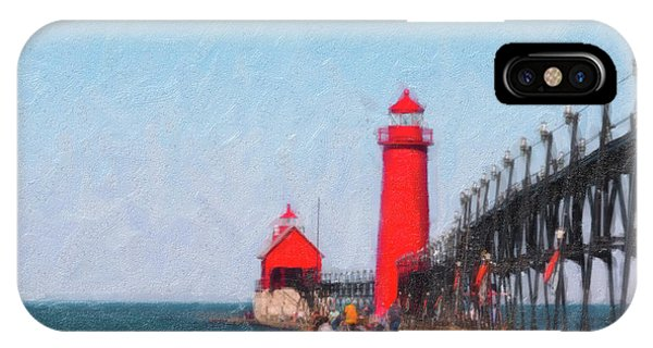 Haven iPhone Case - South Pier Of Grand Haven by Tom Mc Nemar