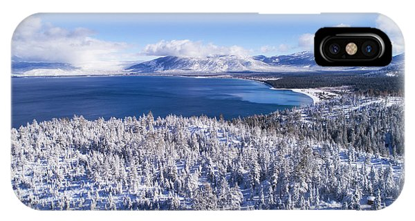 South Tahoe Winter Aerial By Brad Scott IPhone Case
