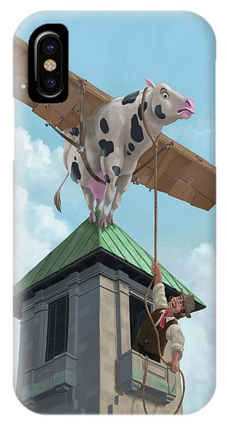 Southampton Cow Flight IPhone Case