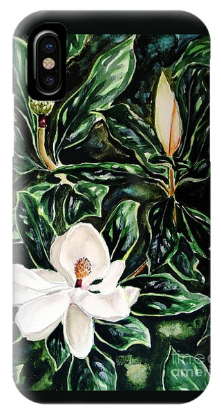 Southern Magnolia Bud And Bloom IPhone Case