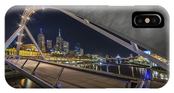 IPhone Case featuring the photograph Southgate Bridge At Night by Ray Warren