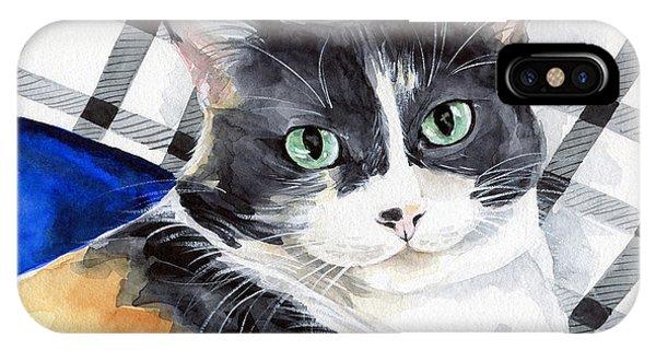 Southpaw - Calico Cat Portrait IPhone Case