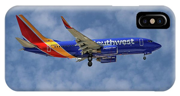 Airline iPhone Case - Southwest Airlines Boeing 737-76n 1 by Smart Aviation