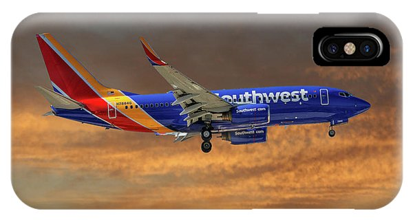 Airline iPhone Case - Southwest Airlines Boeing 737-76n 3 by Smart Aviation