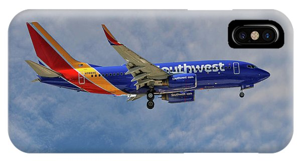 Airline iPhone Case - Southwest Airlines Boeing 737-76n by Smart Aviation