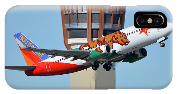 Southwest Boeing 737-3h4 N609sw California One Phoenix Sky Harbor January 21 2016 IPhone Case