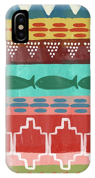 Diamond iPhone Case - Southwest With Fish- Art By Linda Woods by Linda Woods