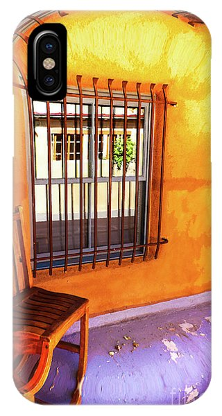 Southwestern Porch Distortion With Puple Floor IPhone Case