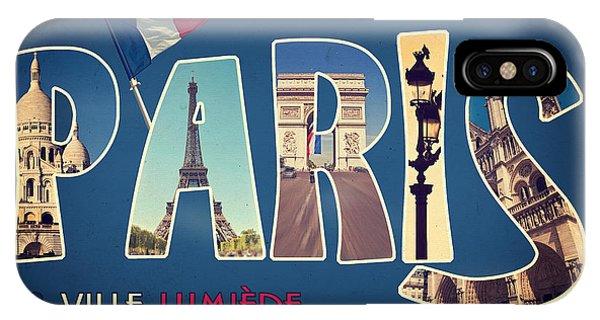 Travel iPhone Case - Souvernirs De Paris by Delphimages Photo Creations