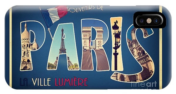 Travel iPhone Case - Souvernirs De Paris by Delphimages Photo Creations