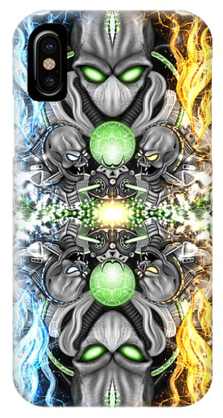 Space Alien Time Machine Fantasy Art IPhone Case