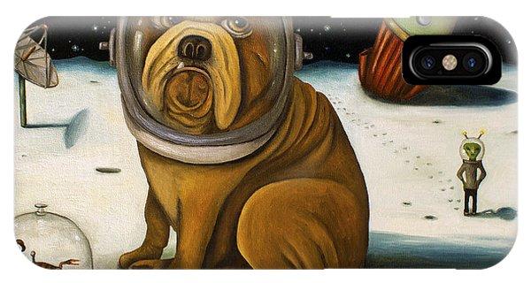 Crash iPhone X Case - Space Crash by Leah Saulnier The Painting Maniac